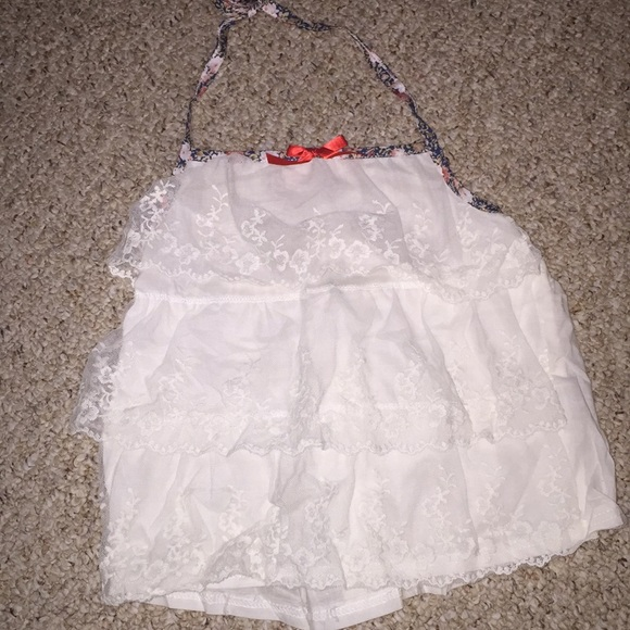 Lace halter top - never worn